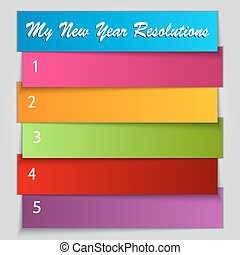 Vector New Year Resolution List template - Vector New Year...