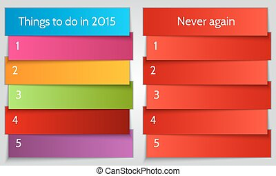 Vector New Year Resolution double List template - Vector New...