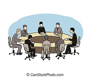 summit - This is an illustration of politic summit