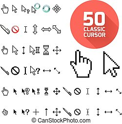 Classic cursor pack Vector illustration for design