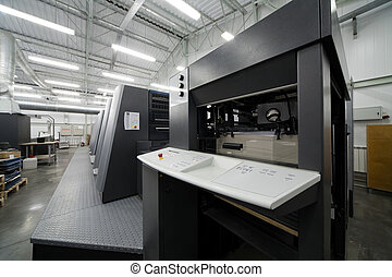 printing house - The equipment for a press in a modern...