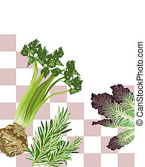 Mixed Vegetables - Illustration of Mixed Vegetables with...