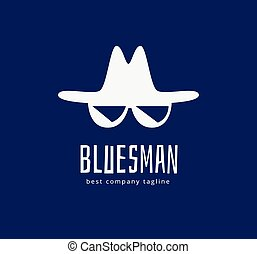 Abstract blues face vector logo icon concept Logotype...