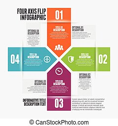 Four Axis Flip Infographic - Vector illustration of four...