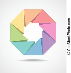 Colorful design element - Colorful Octagonal shaped design...