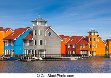 European Style Urban Buildings - Waterfront houses in...