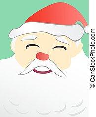 Santa Claus portrait copy space