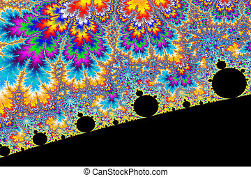 Psychedelic World - a digitally generated colorful fractal...