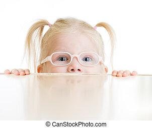 メガネ, 隔離された, 遊び, 子供, 怖がらせられた, ∥あるいは∥, 子供