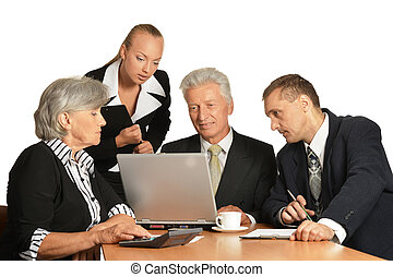 Group of a business people - Group of a business people...