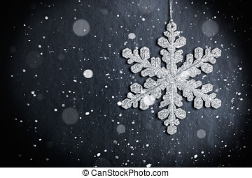 bright Christmas snowflake - bright christmas snowflake on a...