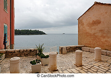 Istria - Adriatic sea at Istria peninsula view from opening...