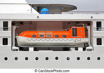 Lifeboat - Enclosed lifeboat on a big cruise ship