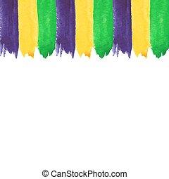 Mardi Gras watercolor invitation