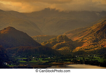 Into Borrowdale. - Looking into Borrowdale from Derwentwater...
