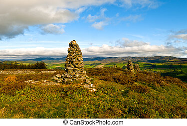 Castle Dow - The old fort of Castle Dow above Strathtay...