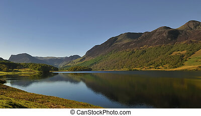 Buttermere Valley - Into Buttermere valley across Crummock...