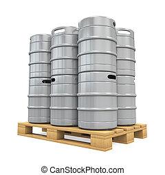 Pallet of Beer Kegs