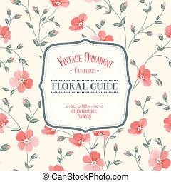 Lable card. - Lable card with template text and flower...