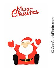 Merry Christmas card with Santa