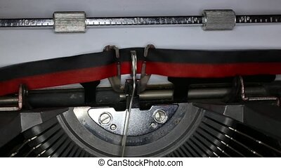 TYPEWRITER with written greetings  in the paper