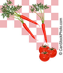 Carrots and Tomatoes - Illustration of Carrots and Tomatoes...