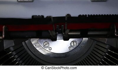 TYPEWRITER written made in Italy - TYPEWRITER with written...