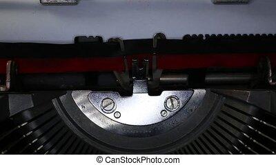 TYPEWRITER written made in Italy - TYPEWRITER with written...