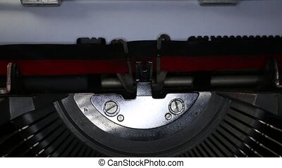 TYPEWRITER with written Success in the paper