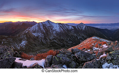 Tatra mountain at sunset