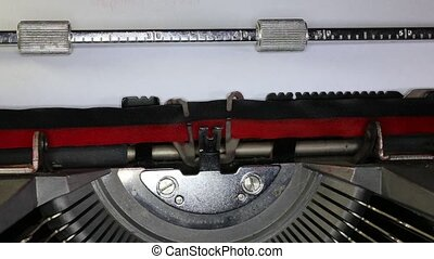 TYPEWRITER with written 2015 in the paper