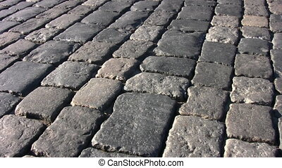 paving stone. Moscow. - Paving stone. Moscow.