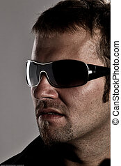 Macho Look - Portrait Of A Handsome Macho Man Wearing...