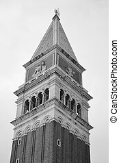 Venice bell tower - Bell tower on Piazza San Marco in...
