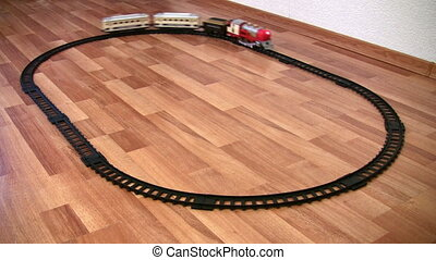train toy and circle way loop