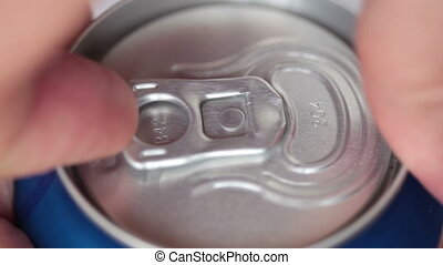 Close up of soda or beer can