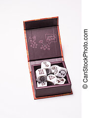 Dices set on white background