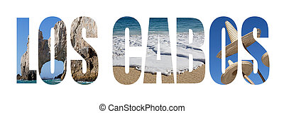 Baja California - Los Cabos written with landscape letters