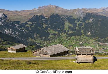 Three Cabins Grindelwald - Three cabins above the valley of...