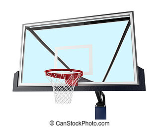 Backboard Basketball on white background