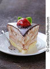 piece of dessert festive cake - piece of delicious dessert...
