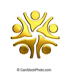 dorado, gente,  Color, ganador, trabajo en equipo,  5