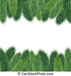 Christmas fir tree borders