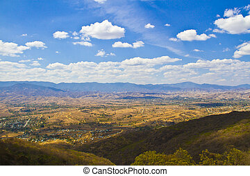 Oaxaca city view from Monte Alban