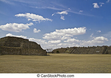 The pyramids of Monte Alban, Oaxaca, Mexico