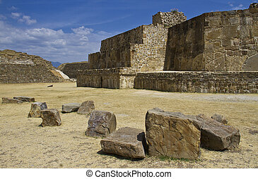 The ruins of Monte Alban, Oaxaca, Mexico
