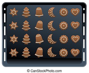 Ginger Bread Cookie Baking Plate - Twenty four gingerbread...