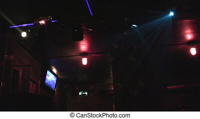 Lights in night club