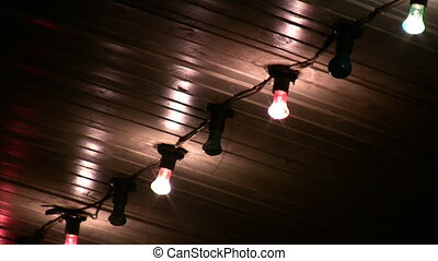 Color lamps on ceiling outdoor