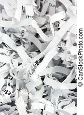 shredded paper close up - shredded paper, symbolic photo for...